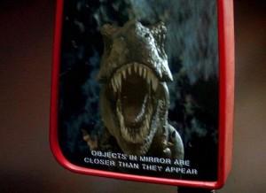 T-Rex in mirror