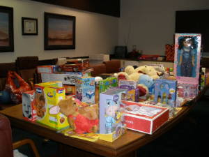 Children's charity, holiday gift donations